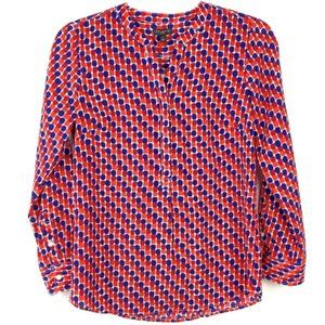 NWT Talbots Petites Dotted Print Popover Shirt XSP